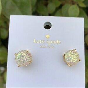 Kate Spade Opal Glitter Gold Earrings